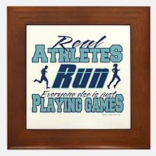 Real Athletes Run Framed Tile