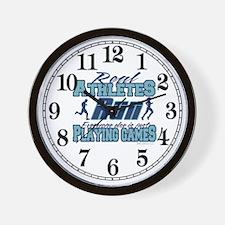 Real Athletes Run Wall Clock