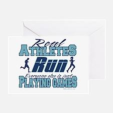 Real Athletes Run Greeting Card