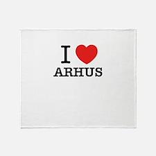 I Love ARHUS Throw Blanket