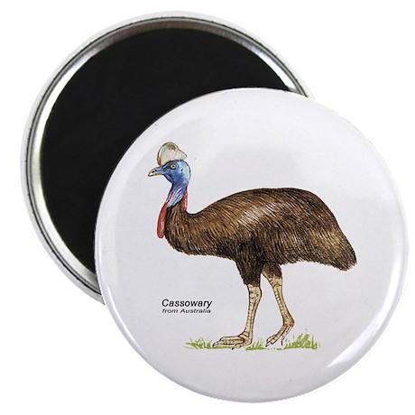 """Cassowary Australian Bird 2.25"""" Magnet (10 pack)"""