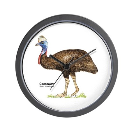 Cassowary Australian Bird Wall Clock