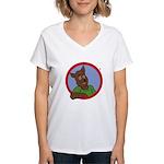 Monty Moonlight Women's V-Neck T-Shirt