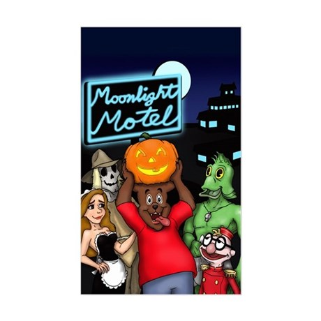 Moonlight Motel Sticker (Rectangular)