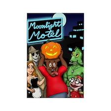 Moonlight Motel Rectangle Magnet