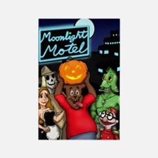 Moonlight Motel Rectangle Magnet