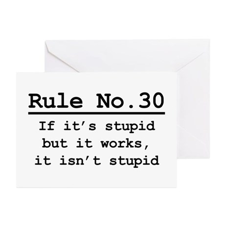 Rule No. 30 Greeting Cards (Pk of 20)