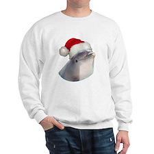 Christmas Santa Dolphin Sweatshirt