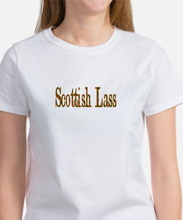 Scottish Tartan Lass Women's T-Shirt