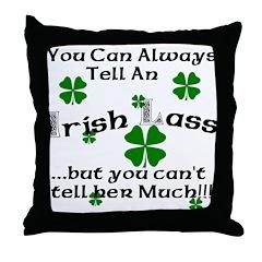 Irish Lass Throw Pillow