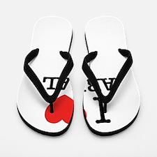 I Love AREAL Flip Flops