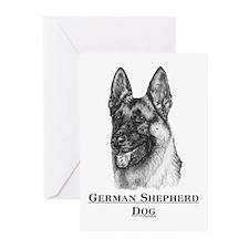 German Shepherd Dog Breed Greeting Cards (6)