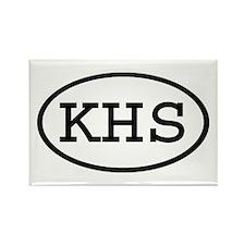 KHS Oval Rectangle Magnet