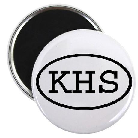 "KHS Oval 2.25"" Magnet (10 pack)"