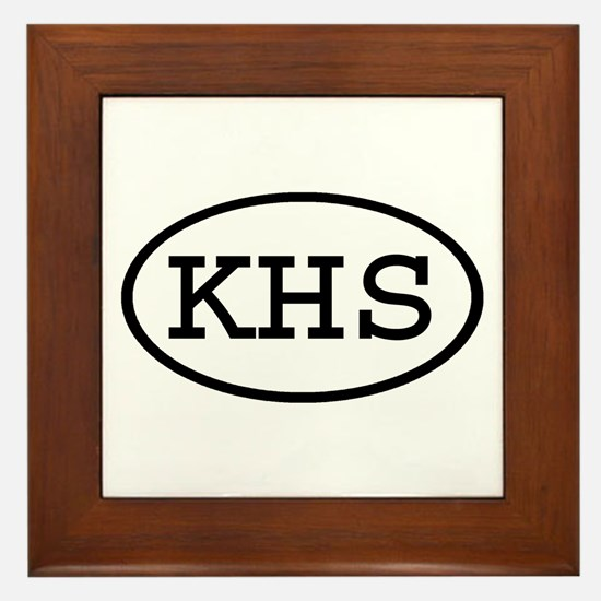 KHS Oval Framed Tile