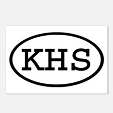 KHS Oval Postcards (Package of 8)