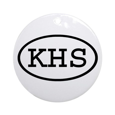 KHS Oval Ornament (Round)