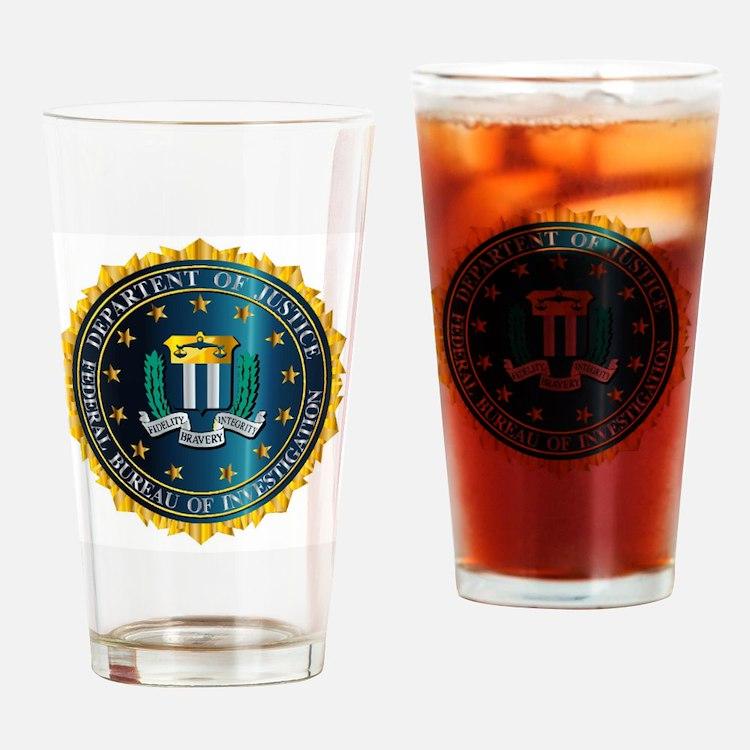 Cute Fbi seal Drinking Glass