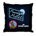 Moonlight Motel Throw Pillow