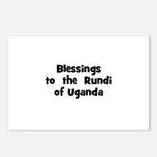 Blessings  to  the  Rundi of  Postcards (Package o