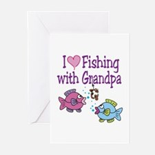 I Love Fishing With Grandpa Greeting Cards (Pk of