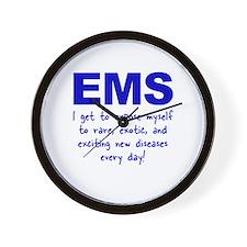 EMS ... diseases Wall Clock