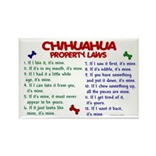 Chihuahua Property Laws 2 Rectangle Magnet (10 pac