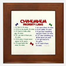 Chihuahua Property Laws 2 Framed Tile