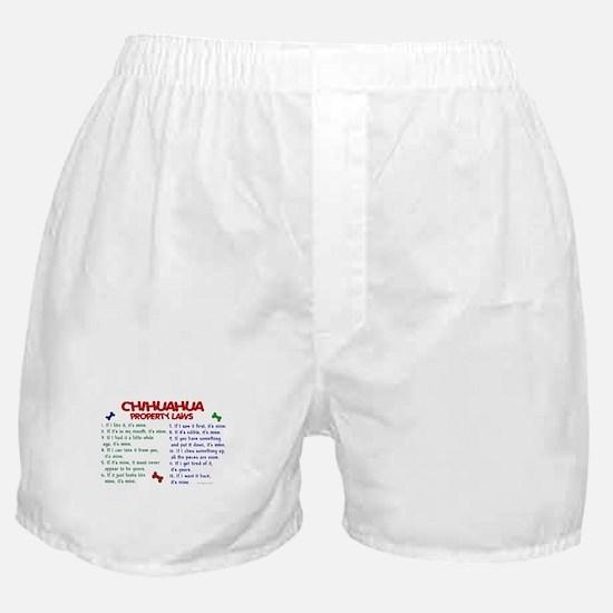Chihuahua Property Laws 2 Boxer Shorts