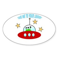 cute alien Oval Decal