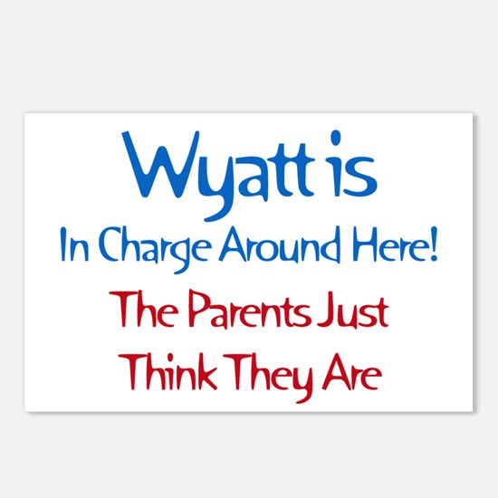 Wyatt Is In Charge Postcards (Package of 8)