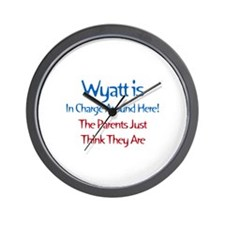 Wyatt Is In Charge Wall Clock