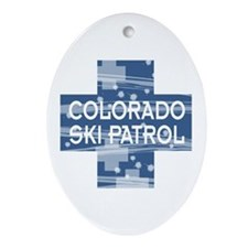 Colorado Ski Patrol Oval Ornament