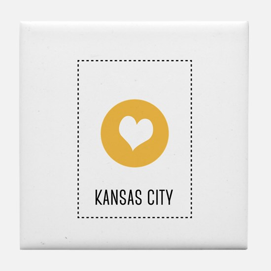 I Love Kansas City Tile Coaster