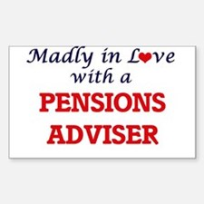 Madly in love with a Pensions Adviser Decal