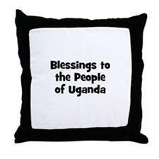 Blessings to the People of Ug Throw Pillow