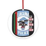 Laguna Pueblo Police Ornament (Round)