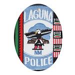 Laguna Pueblo Police Oval Ornament