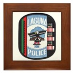 Laguna Pueblo Police Framed Tile