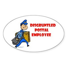 DISGRUNTLED Oval Decal