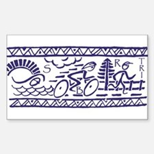 BLUE TRI-BAND Rectangle Decal
