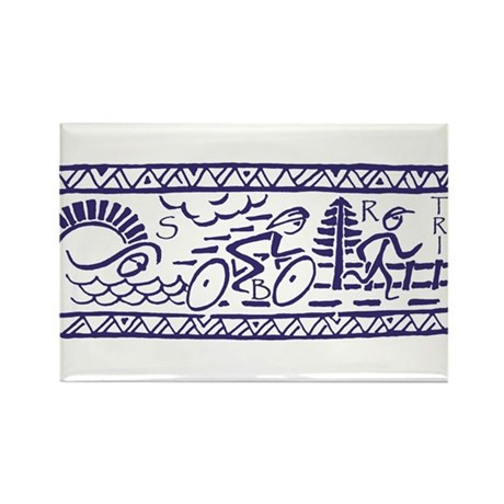BLUE TRI-BAND Rectangle Magnet (10 pack)