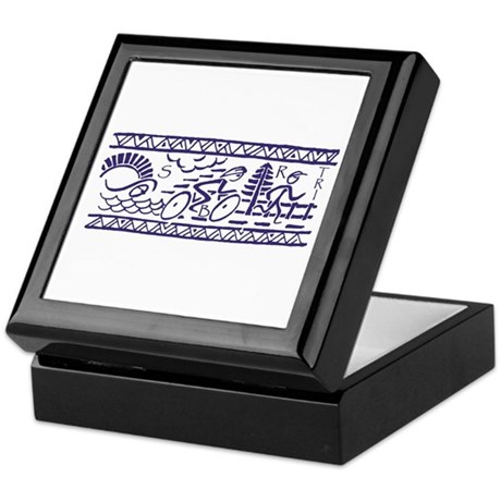 BLUE TRI-BAND Keepsake Box
