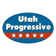 Utah Progressive Oval Car Decal