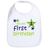 1st birthday Cotton Bibs