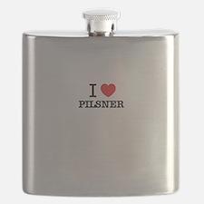I Love PILSNER Flask