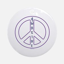 Imagine Peace Ornament (Round)