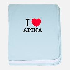 I Love APINA baby blanket