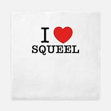I Love SQUEEL Queen Duvet