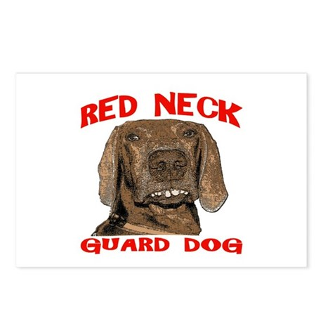Red Neck Guard Dog Postcards (Package of 8)
